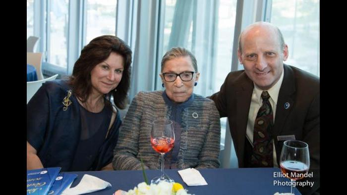 Ruth Bader Ginsburg with members of her family at Cedille Records. (Courtesy of Jim Ginsburg)