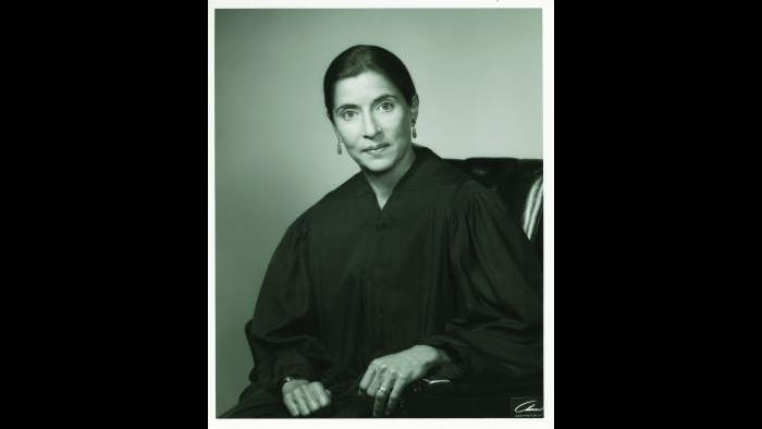 RBG as a federal appeals court judge, 1980. Collection of the Supreme Court of the United States.