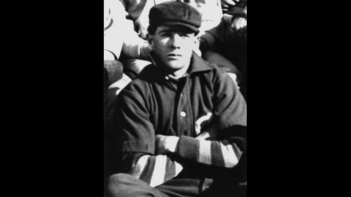 Joe Tinker in 1900, when playing for the Colorado Grizzlies minor league team. (Courtesy of Jay Sanford)