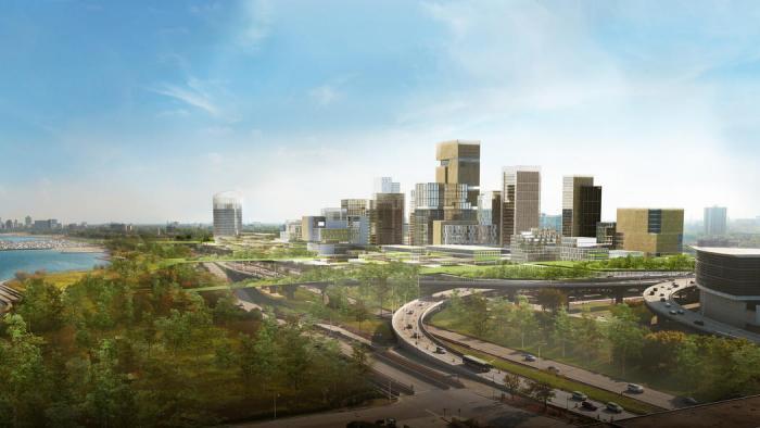 (Skidmore, Owings & Merrill rendering)