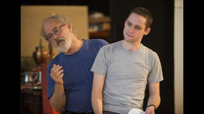 "Rehearsing for ""The Rembrandt"" (Michael Brosilow / Steppenwolf Theatre)"