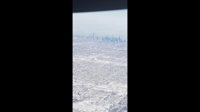 Wed 1.30.2018 leaving o'hare airport. (Submitted by Renee Briones)