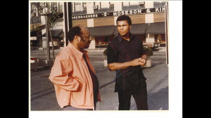 Richard Durham with Muhammad Ali, early 1970s. (Courtesy Clarice Durham)