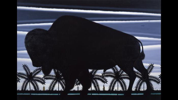 Roger Brown, American Buffalo—An Imaginary View of Chicago the Prairie, 1982. (Courtesy of the James R. Thompson Center)