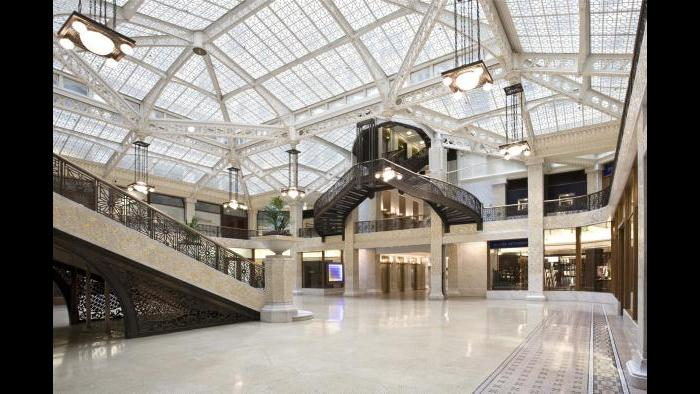 The Rookery Building in Chicago.
