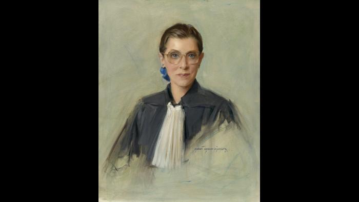"""Ruth Bader Ginsburg,"" by Everett Raymond Kinstler, 1996. Oil on canvas. National Portrait Gallery, Smithsonian Institution; gift of Everett Raymond Kinstler. © 1996 Everett Raymond Kinstler."