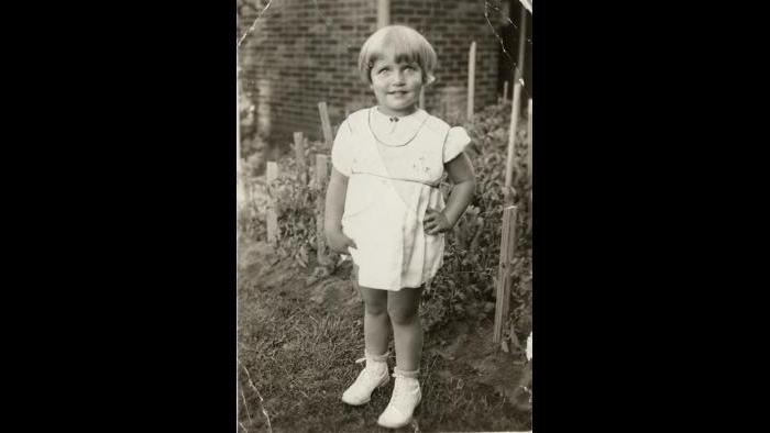 Ruth Bader as a child, 1935. Collection of the Supreme Court of the United States.