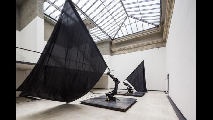 """Black Flags,"" 2014, William Forsythe"