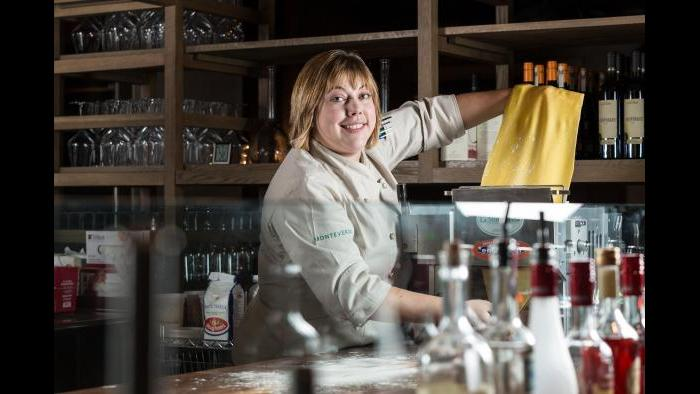 Grueneberg's love for Italian food and pasta-making stems from her experience as line cook and, later, executive chef at Spiaggia Restaurant. (Credit: Galdones Photography)