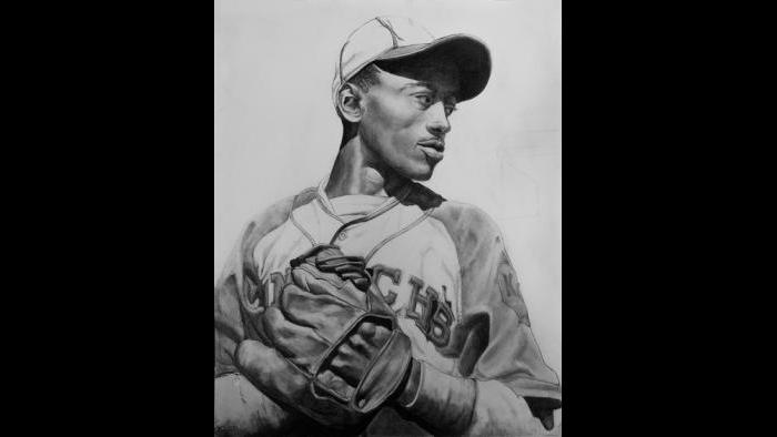 """Satchel Paige: """"He is known as the world's oldest rookie. He played in the Negro Leagues and he was very famous. When he got drafted into the white major leagues, he was in his 40s. Usually, baseball players retire in their mid-30s. He was a great pitcher; probably one of the top five pitchers who ever played the game."""""""