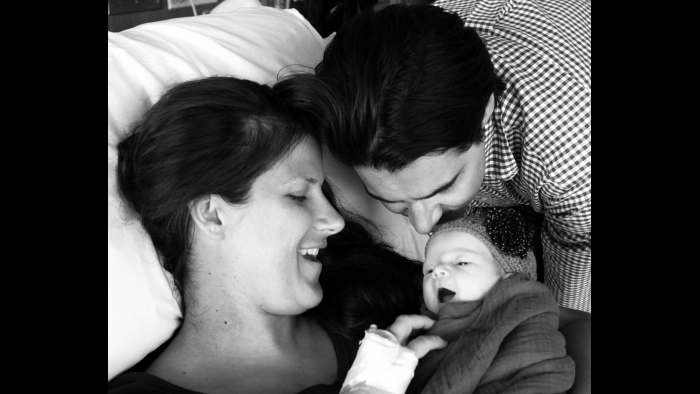 Dr. Catherine Humikowski and her daughter, Nora, and husband, Scott. (Courtesy Dr. Catherine Humikowski)