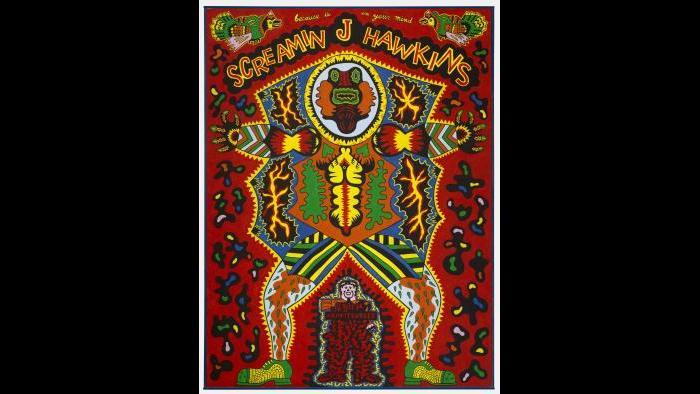 """Karl Wirsum. """"Screamin' Jay Hawkins,"""" 1968. The Art Institute of Chicago, Mr. and Mrs. Frank G. Logan Purchase Prize Fund. © Karl Wirsum."""
