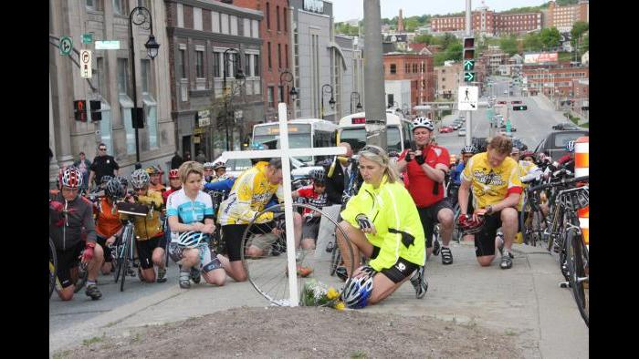 A Ride of Silence event held in Sherbrooke, Canada. (Ride of Silence)