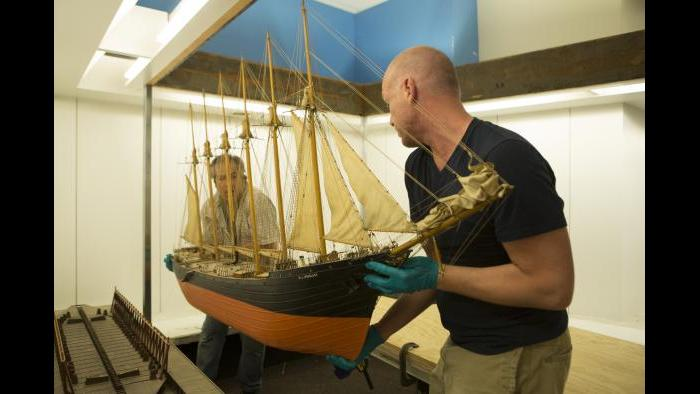 "The museum decided in January 2015 to renovate the ""Ships Gallery"" exhibit space and conserve all of its model ships. (J.B. Spector / Museum of Science and Industry)"