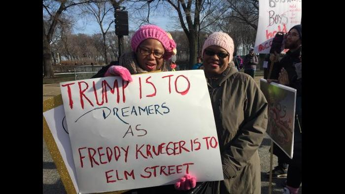Linda Walker of Chicago and Beverly Foy of Elgin (Amanda Vinicky / Chicago Tonight)