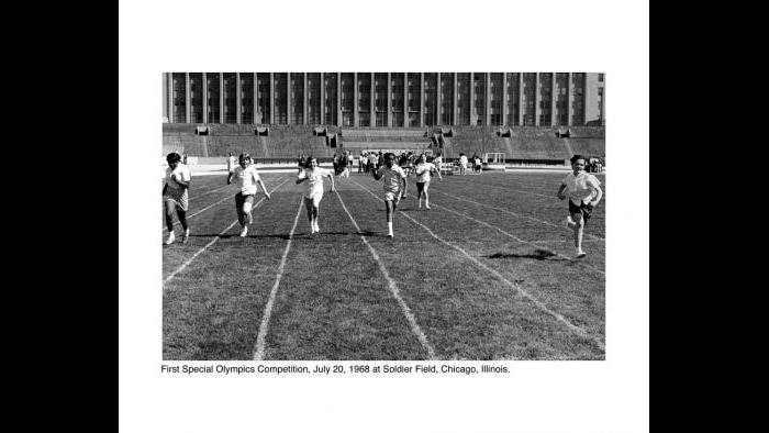 The 1968 Games brought together about 1,000 athletes with intellectual differences from 26 U.S. states and Canada. They competed in swimming, floor hockey and track. (Courtesy of Special Olympics Chicago)