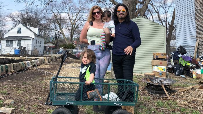 """Star Farm is usually a training site for community program participants. But during the coronavirus pandemic, Stephanie Dunn has relied more on her family for help. Said her partner Antonio Bucio, an electrician, """"Stephanie's project is becoming mine with every passing day."""""""