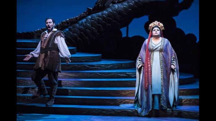 "Stefano La Colla and Amber Wagner in ""Turandot"" (Courtesy of Lyric Opera Chicago)"