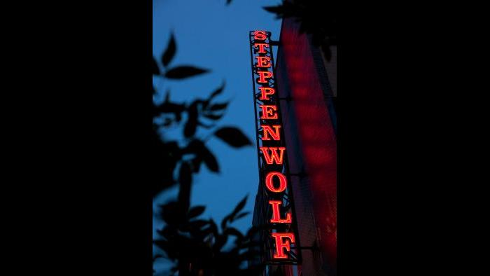 Steppenwolf marquee. (Kyle Flubacker / Steppenwolf Theatre)