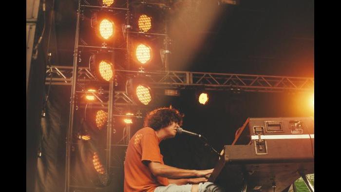 Tobias Jesso Jr. performs at Pitchfork in 2015. (Kristina Pedersen / Pitchfork)