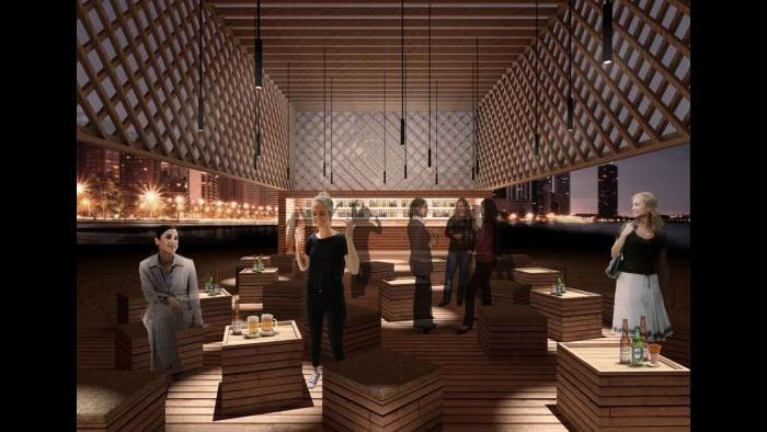Kiosk design finalist by TRU Architekten.