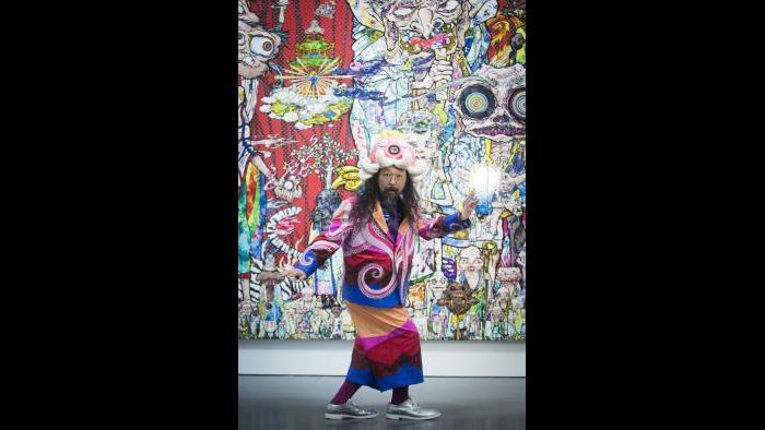 (Takashi Murakami, Photo: Maria Ponce Berre, © MCA Chicago)