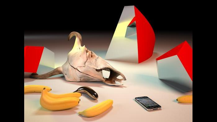 Takeshi Murata, Golden Banana, 2011. Courtesy of the Artist and Ratio 3, San Francisco and Salon 94, New York.