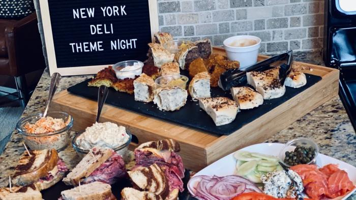 Heather Payne's husband, Matt Hoy, was in charge of all the theme night food, like these deli-inspired eats. (Courtesy of Heather Payne)