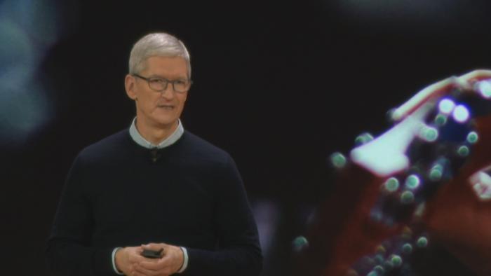 Apple CEO Tim Cook announced an updated iPad and several new education tech apps Tuesday morning at Lane Tech High School.
