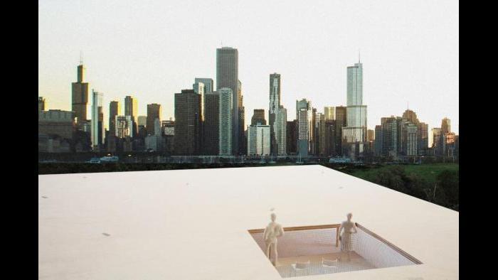 Winning kiosk design 'Chicago Horizon' by Team Ultramoderne.