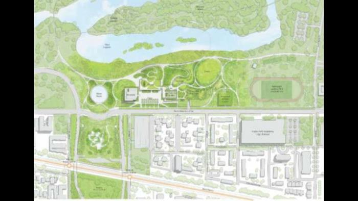 Conceptual site plan. (Courtesy of the Obama Foundation)