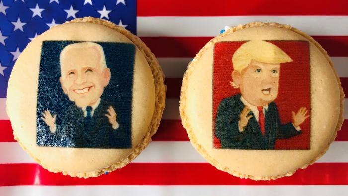 "The popularity of Vanille's ""Mac the Vote"" macarons led to the Inauguration Day menu. (Courtesy of Vanille Patisserie)"