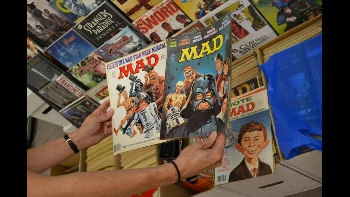 A selection of MAD Magazine issues for sale at Variety Comics. (Photo/Kristen Thometz)