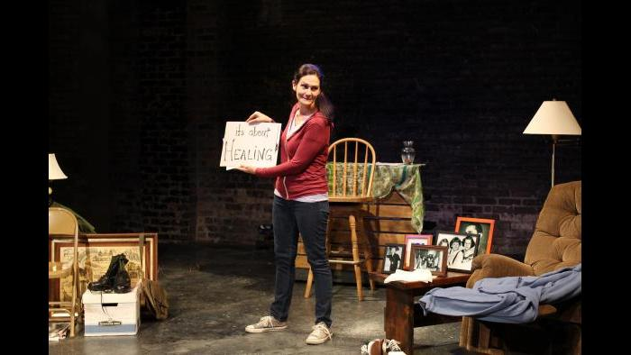 "Stacy Stoltz performs in ""Walk A Mile."" (Credit: Mali Anderson)"