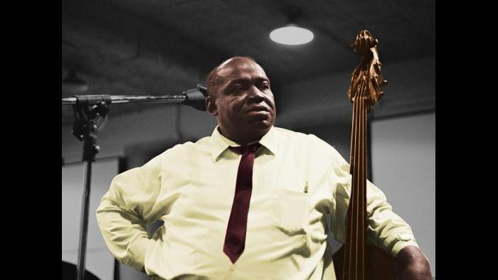 Willie Dixon at a recording session at Delmark Records, Chicago, Illinois, June 26, 1968.