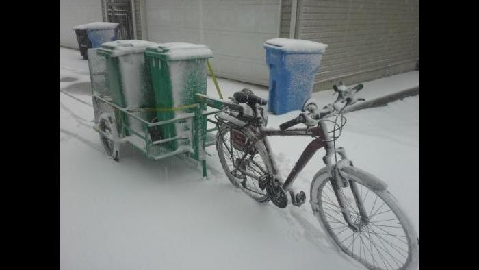 Composting in the snow. (Courtesy Jonathan Scheffel)