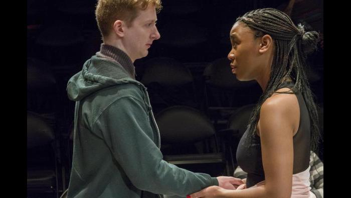 """MacGregor Arney and Courtney Rikki Green in """"Teenage Dick,"""" at Theater Wit. (Photo credit: Charles Osgood)"""