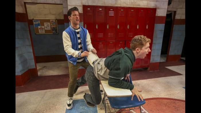 """Ty Fanning, left, and MacGregor Arney in """"Teenage Dick."""" (Photo credit: Charles Osgood)"""