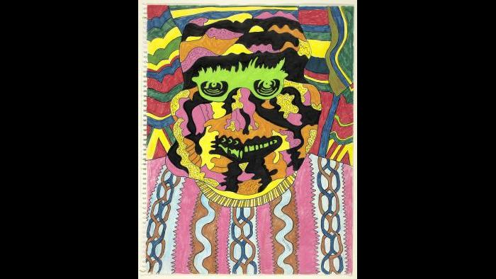 "Karl Wirsum. ""Youdue,"" c. 1966. The Art Institute of Chicago, restricted gift of Mr. and Mrs. Samuel W. Koffler. © Karl Wirsum."