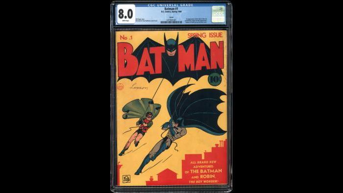 Batman 1 CGC 8.0 $1,000,000.00 Larson Pedigree (Courtesy Vincent Zurzolo)