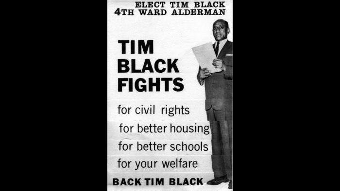 Campaign for alderman (Courtesy of Timuel Black and the Vivian G. Harsh Research Collection)
