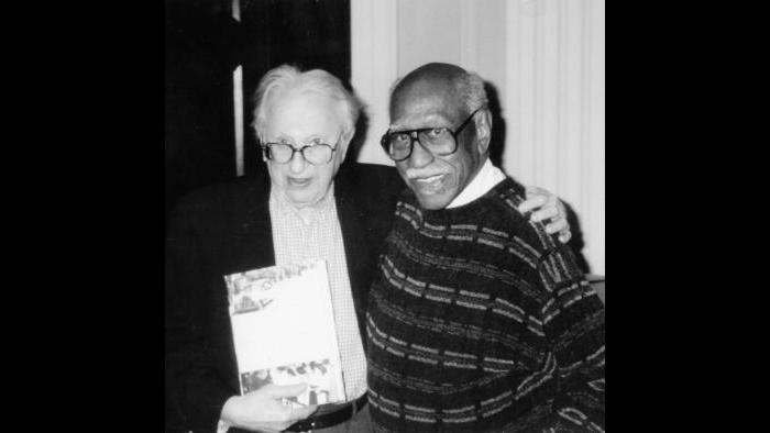 With Studs Terkel (Courtesy of Timuel Black and the Vivian G. Harsh Research Collection)