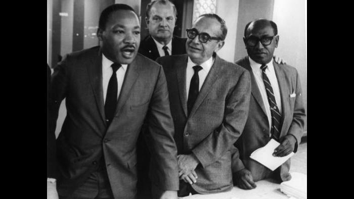With Martin Luther King Jr. (Courtesy of Timuel Black and the Vivian G. Harsh Research Collection)