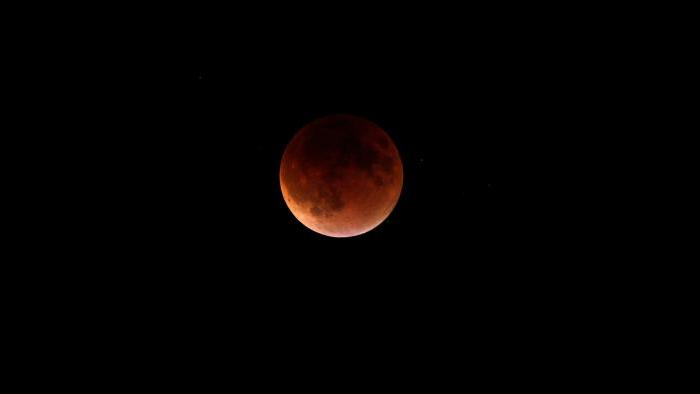 Photo by Michal Furmanek: Blood Moon over Lake Forest