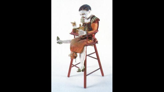 "Phyllis Bramson, ""Baby Heidi Chair,"" 1974. Mixed media. (Courtesy of the artist)"