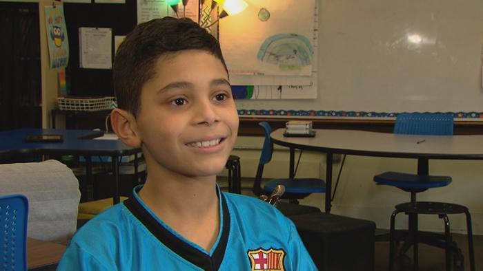 David Diaz, fifth grader