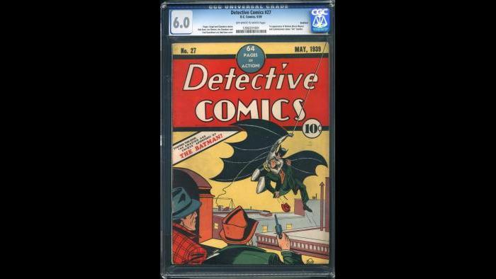 Detective Comics #27 CGC 6.0 Rockford Pedigree $1,000,000.00 (Courtesy Vincent Zurzolo)