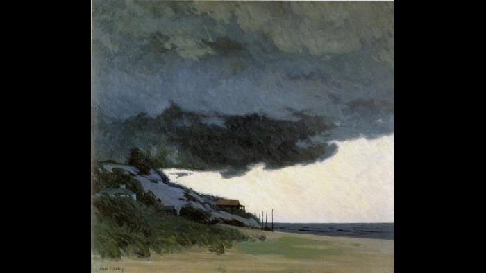 """Storm Clouds Hang Low,"" 1931. Illinois State Museum"