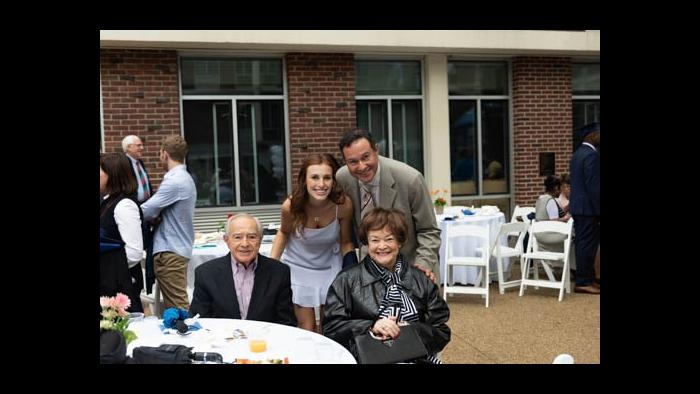 From left: David Cerda with granddaughter Amalia, son David Cerda and wife Maria Cerda. (Courtesy of the Cerda family)