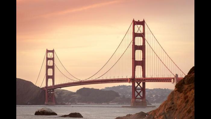 The real Golden Gate Bridges stretches 1.7 miles long and is 90 feet wide.